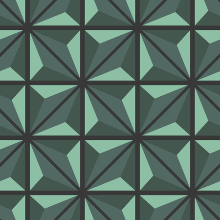 Decorative seamless geometric texture with rhombuses and triangles. Vector illustration. Foto de archivo - 116492606