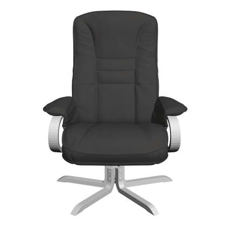 Polygonal black armchair isolated on a white background. 3D. Vector illustration Stock Illustratie