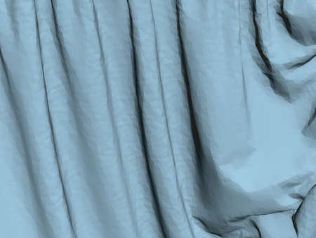 Close-up of blue fabric with folds. 3D. Vector illustration Stock Illustratie