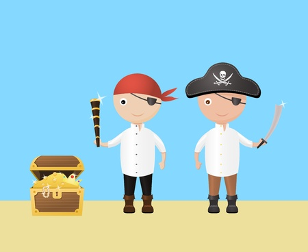 scarf beach: Two Little Pirates
