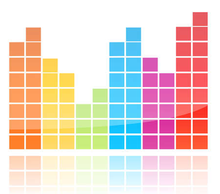 Shiny Colorful Equalizer Vector