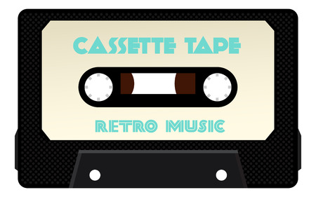 Detailed Cassette Tape  inclueds highlights and texture   Vector