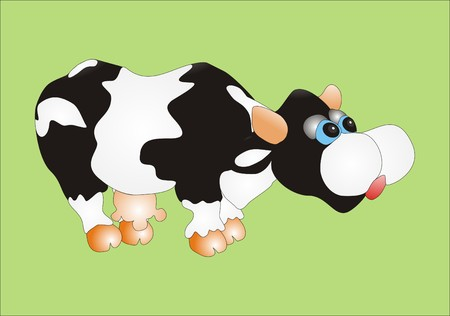 Funny Cow Stock Vector - 4540743