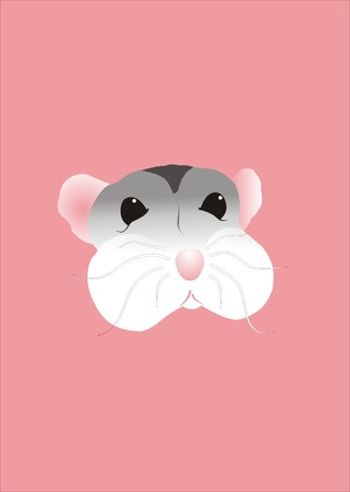 Cute hamster on Pink background Stock Vector - 4540752