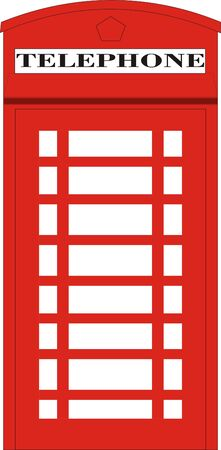 English Red Phone Box Vector