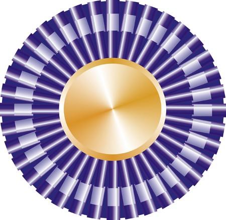 Purple Ribbon Dog Award Stock Vector - 4576650