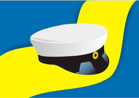 Swedish Graduation Hat Illustration