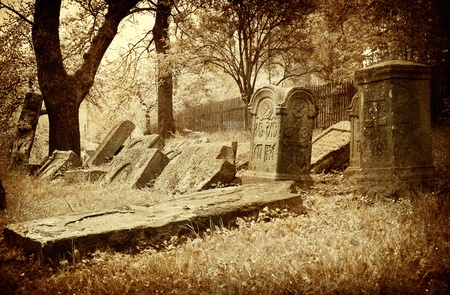 old picture vintage graveyard; art background Stock Photo - 8559678