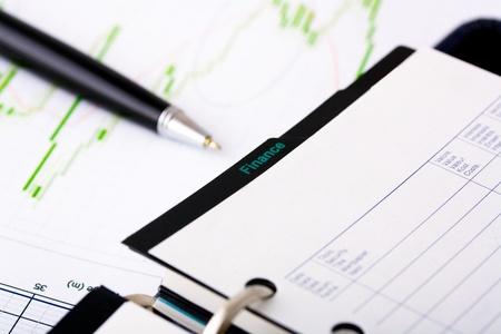 diagrama de arbol: imajen conceptual de negocios con pluma y diagrama