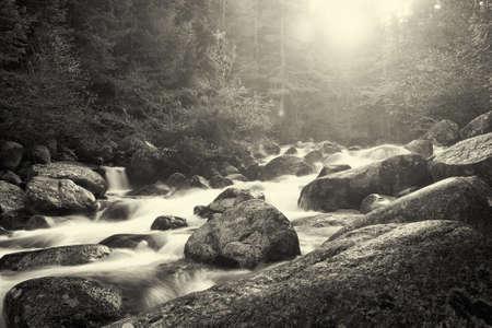 beautiful black and white bulgarian nature Stock Photo - 8559673