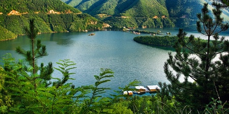 bulgarian lake at the river Vacha Stock Photo - 8587498
