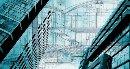 koncepcyjne planu architektonicznego; abstrakcyjna budynków koncepcyjne