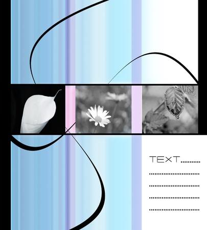 abstrakcyjna ilustracji dla karty valentine lub pocztówka Zdjęcie Seryjne
