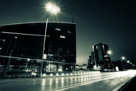 czarno-biały bułgarskiej stolicy Sofii; duotone pejzaż w tle