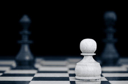saturated color: A chess game duotone saturated color Stock Photo