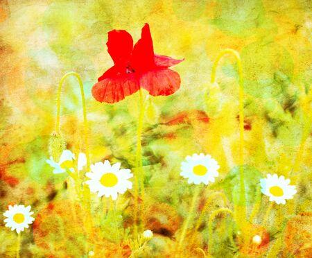 abstract grunge tetured flower image  photo