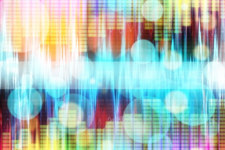 abstract modern multi-colored equalizer background Stock Photo - 14018046