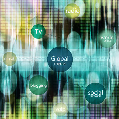 media and social tag cloud Stock Photo - 14042708