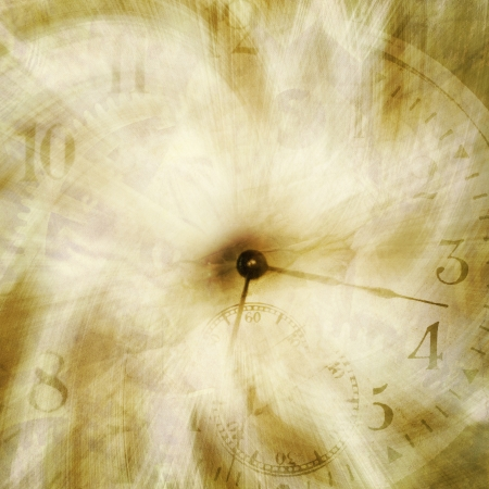 abstract time texture; grungy clock wallpaper or background
