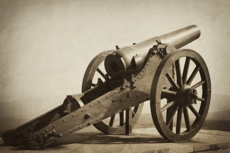 old heavy gun vintage textured image Stock Photo