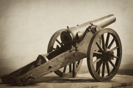 old heavy gun vintage textured image Stockfoto