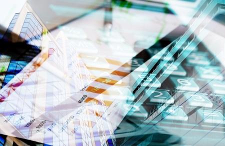 collage marketing and data conceptual  Stockfoto