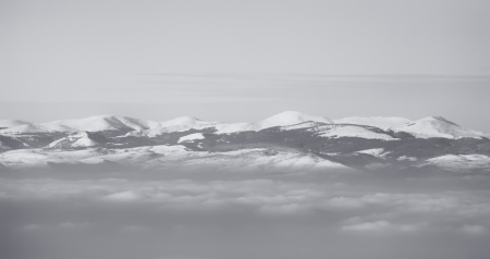 high contrasted black and white mountain panoramic view Stock Photo - 17120419