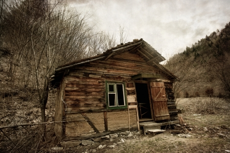 Abandoned spooky house- vintage textured background Stock Photo - 18685911
