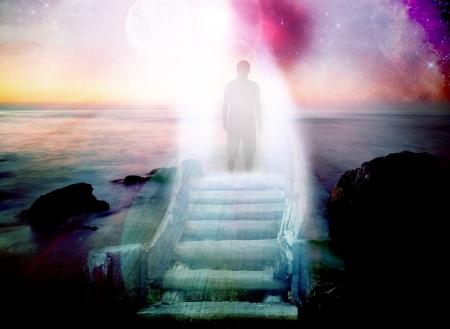 abstract gate podróże kosmiczne z ludzkiej sylwetki