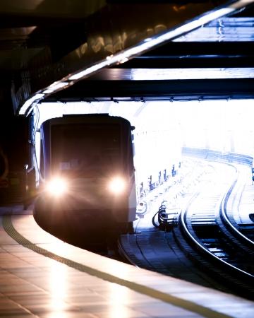 city underground metro station vertical shot