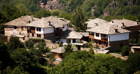 ethnographic: authentic old bulgarian houses in Kovachevica village