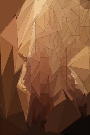 abstract paintings: abstract low poly horse paintings