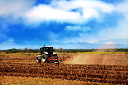 agriculture industrial: HDR agriculture industrial background in summer time on the field Stock Photo