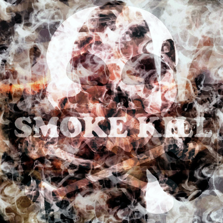 abstract smoke kill poster background with text added photo
