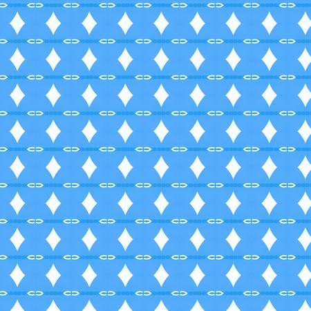 simbols: blue ornamental pattern background with manny white simbols