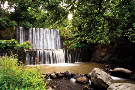 man made: man made waterfall cascade in bulgarian Vitosha mountains