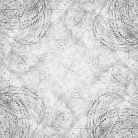 concurrence: Abstract black and white fractal background