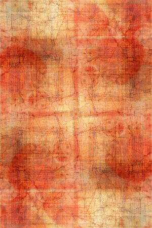 urban decay: red scratched vintage background for card design
