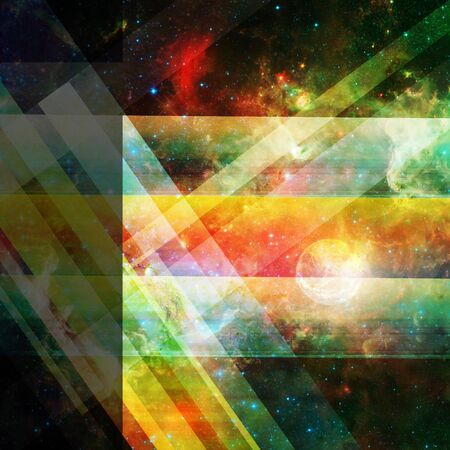 photons: abstract space background with lines and stars- elements of this image are furnished by NASA