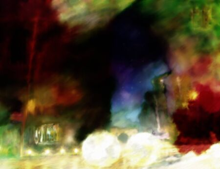 urban grunge: Abstract colorful painted urban grunge background