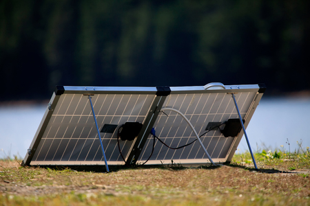 tyan shan mountains: Camping equipment for solar energy in the mountains.