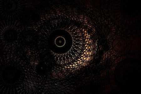 vortex black and grey fractal background