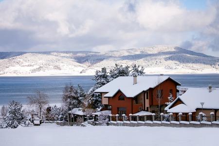 bulgarian: winter resort in bulgarian mountains, near to Batak dam lake