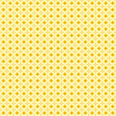 Seamless floral pattern, vintage ornamental background, yellow and orange dominant colors