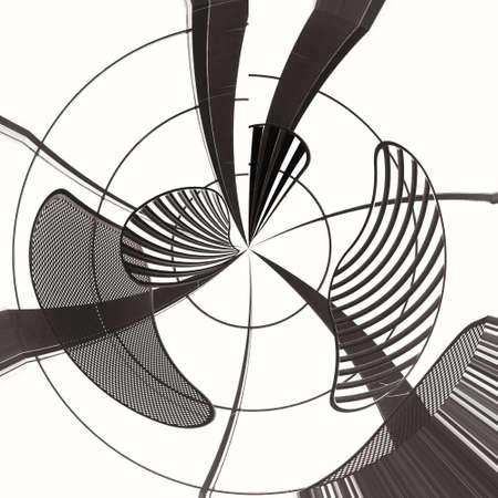 surrealistic: art vortex background with metal textured elements