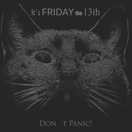 Friday the 13th abstract background with text added Stock Photo