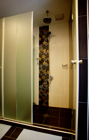 Bathroom interior in the hotel spa center