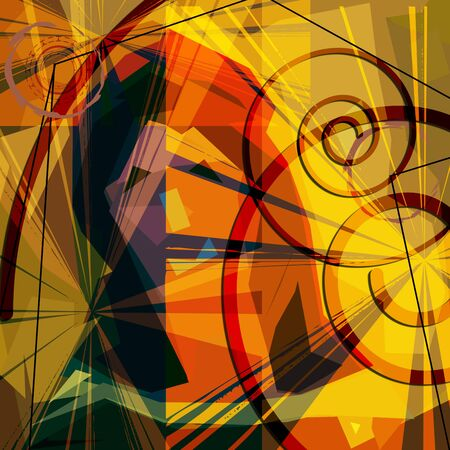 Trendy low poly abstract art, unusual background with face Stock Photo