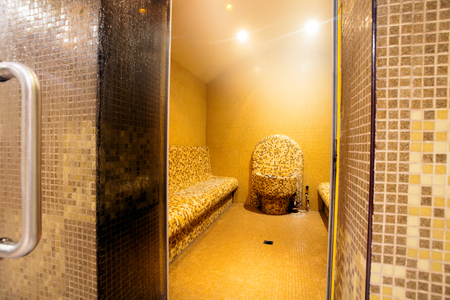 Steam room in a spa Stock Photo