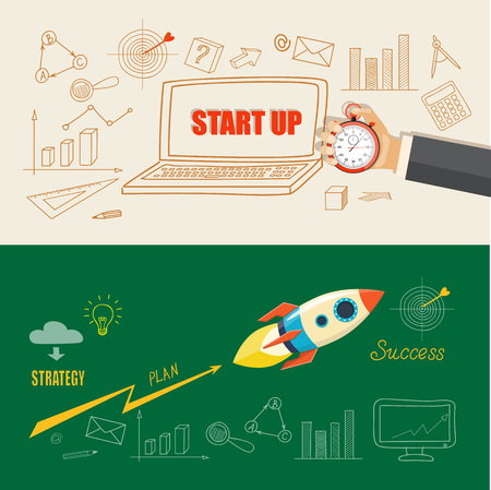 Flat design modern vector illustration  business concept 일러스트